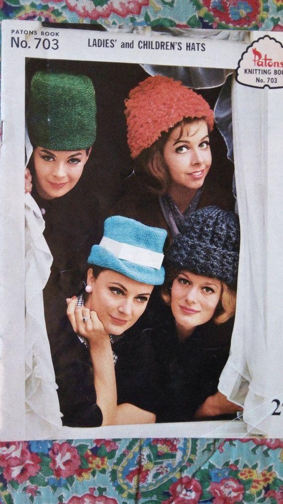 Groovy 1960's original vintage Patons knitting by Gladyswasagirl, $7.00