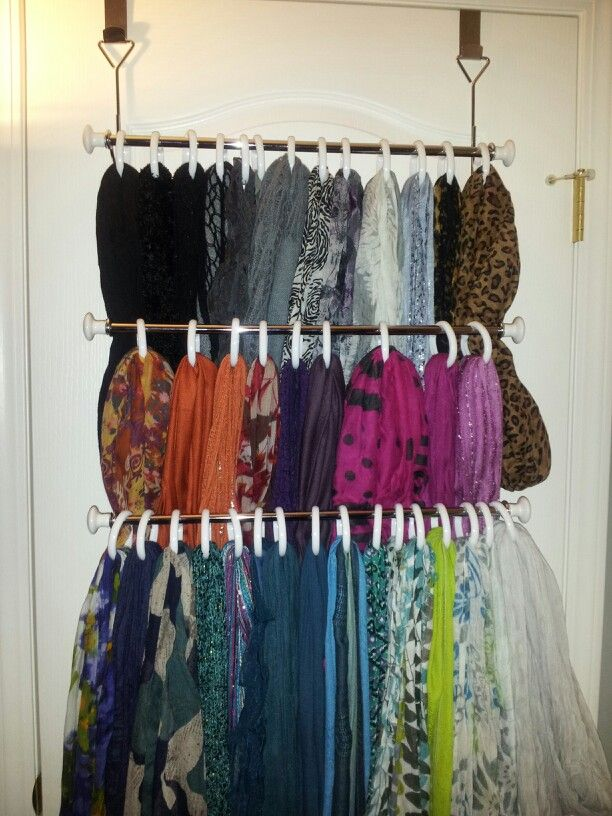 17 best images about scarf organization on pinterest for Scarves hanger ikea