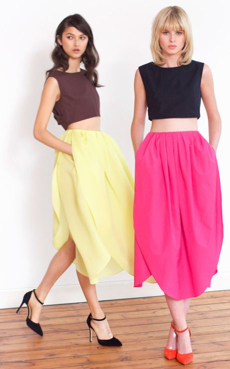 longer top required but this is an awesome skirt!  Camelia Petal Skirt (Isa Arfen)