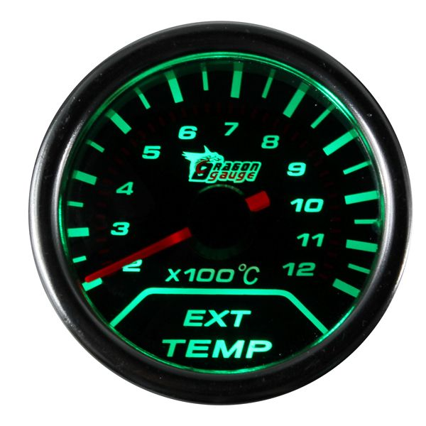Exhaust Gas Temp Temperature Gauge For Car EGT 2-12 X100C O2 Sensor