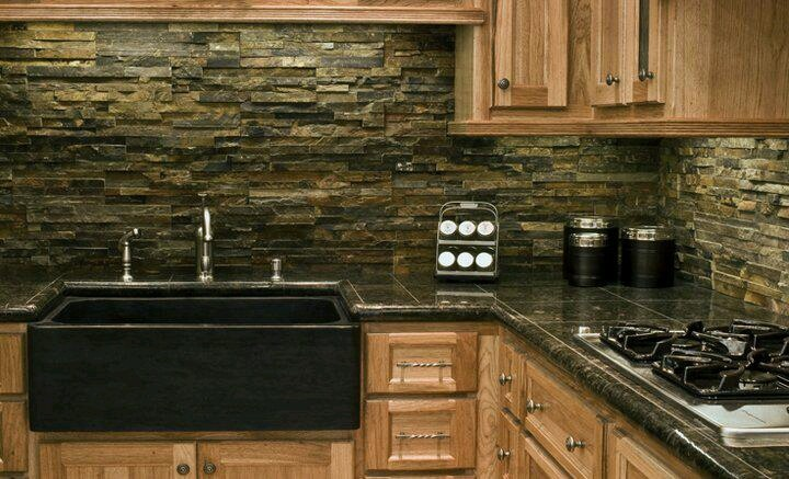 stone backsplash for my kitchen this is our plan and i