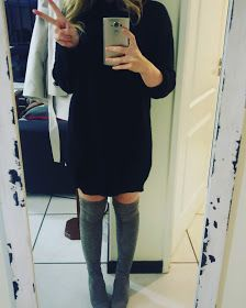 http://adorkablesa.blogspot.co.za/2017/06/my-5-fall-faves.html  Autumn. Fall. Spring. Jumper Dress. Cosy Knit Dress. Over the Knee Boots. Hanover. Superbalist.