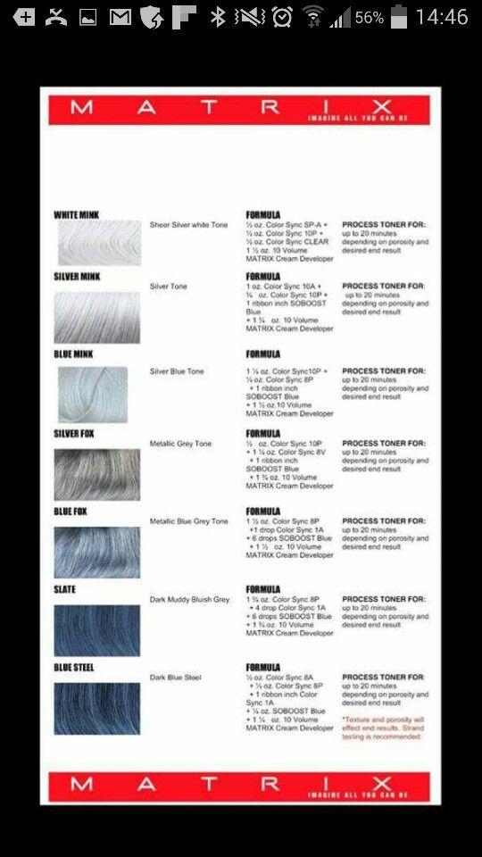 Hair color grey formulas matrix