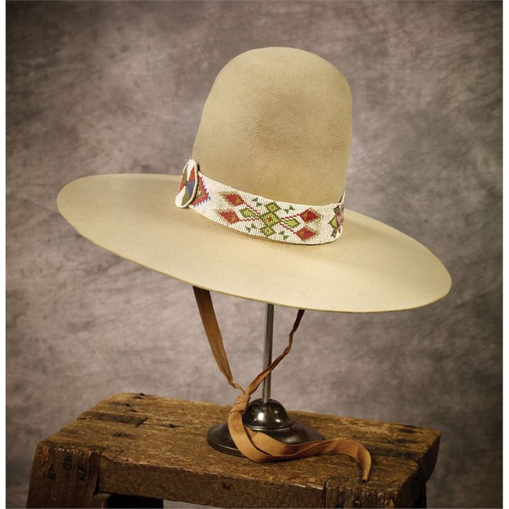 Early Buck Jones Hat with Beaded band, c 1915