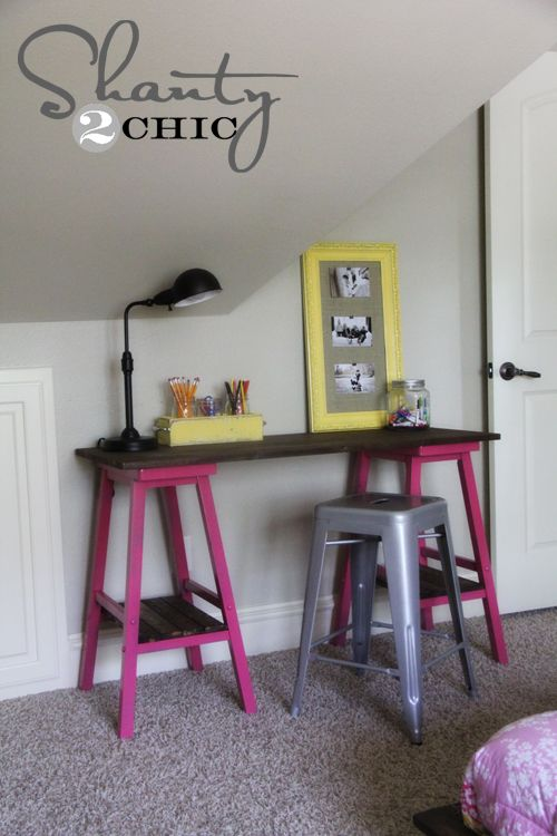 Diy Barstool Desk Kids Corner Awesome And Good Ideas