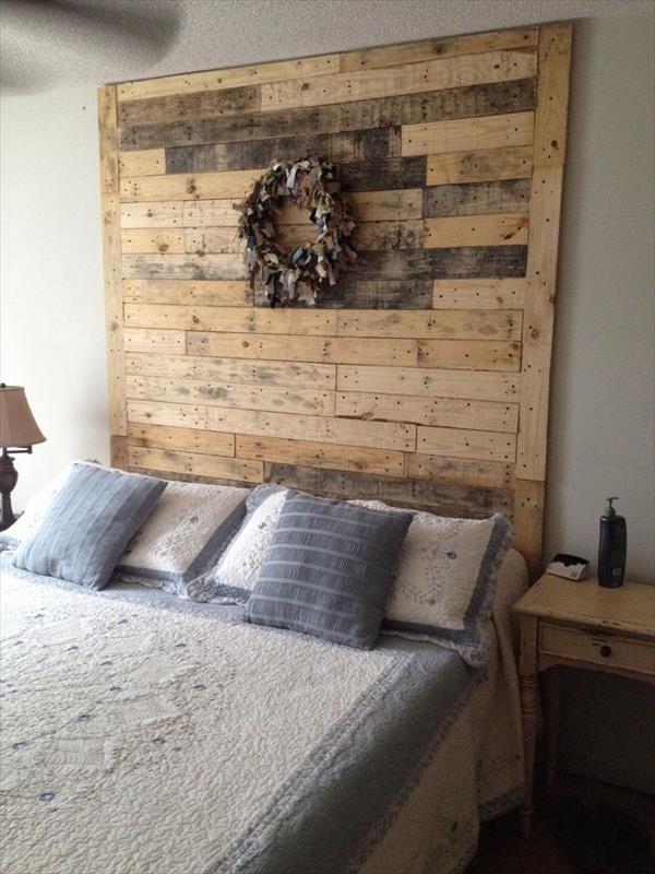 Cabecero con marco de palets camas de palets pinterest - Cabeceros hechos con palets ...