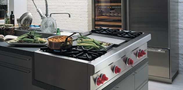 gas stove top with grill and griddle.  Love this stove as well!