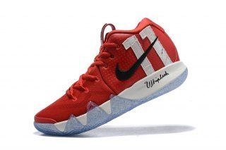 3c87b674f18d Nike Kyrie 4 October Red White Black Men s Basketball Shoes. Visit