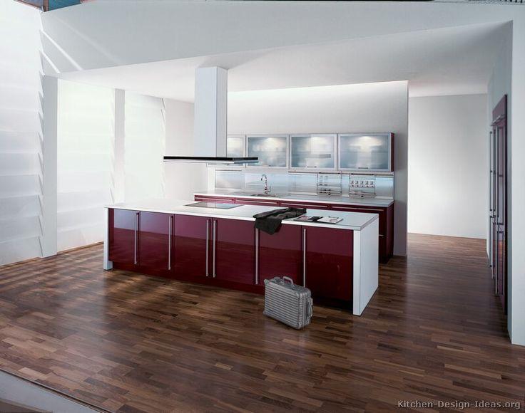 17 best images about modern kitchens on pinterest dark for Burgundy kitchen ideas