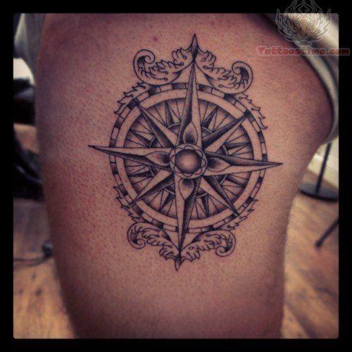 Scottish nautical compass tattoos pinterest grey for Nautical compass tattoo