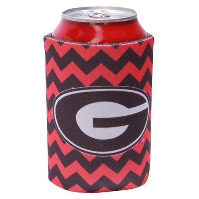 Georgia Bulldogs Chevron Can Hugger Koozie