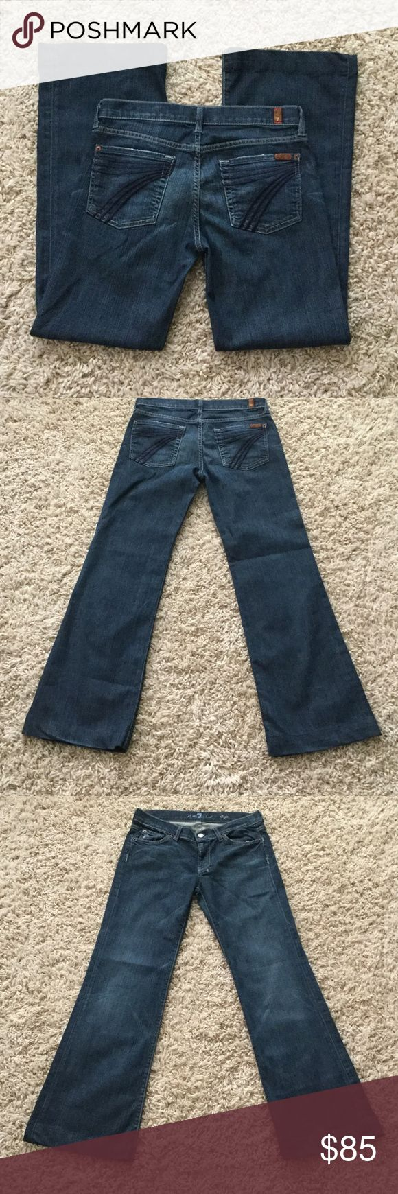 Seven for all mankind size 27 inseam 31 inches Nice looking jeans. 7 For All Mankind Jeans Flare & Wide Leg