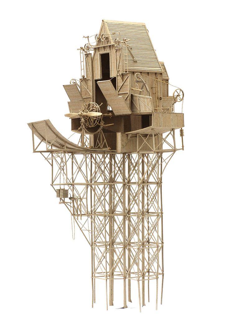 """Daniel Agdag, basé à Melbourne n'est pas un artiste en carton, en revanche c'est sa matière première pour créer des expériences structurelles qu'il surnomme """"sketching with cardboard""""."""