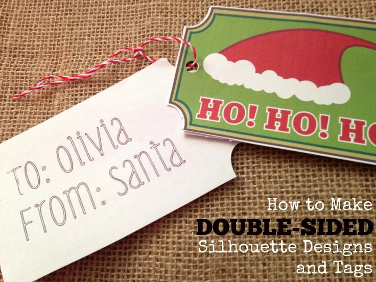 How to Make Double-Sided Gift Tags with Silhouette (2 Ways) ~ Silhouette School