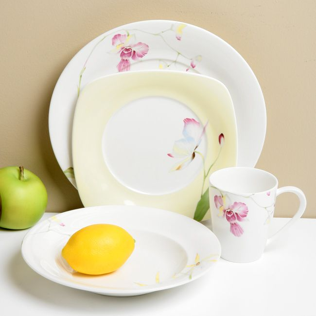 Provide a full-service meal for family and guests with this floral dinnerware set from Red Vanilla. This set can provide service to four and includes dinner ... & 7 best Dinnerware images on Pinterest   Dinnerware sets Kitchen ...