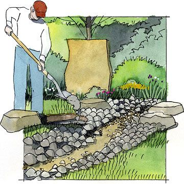 how to build a dry river bed