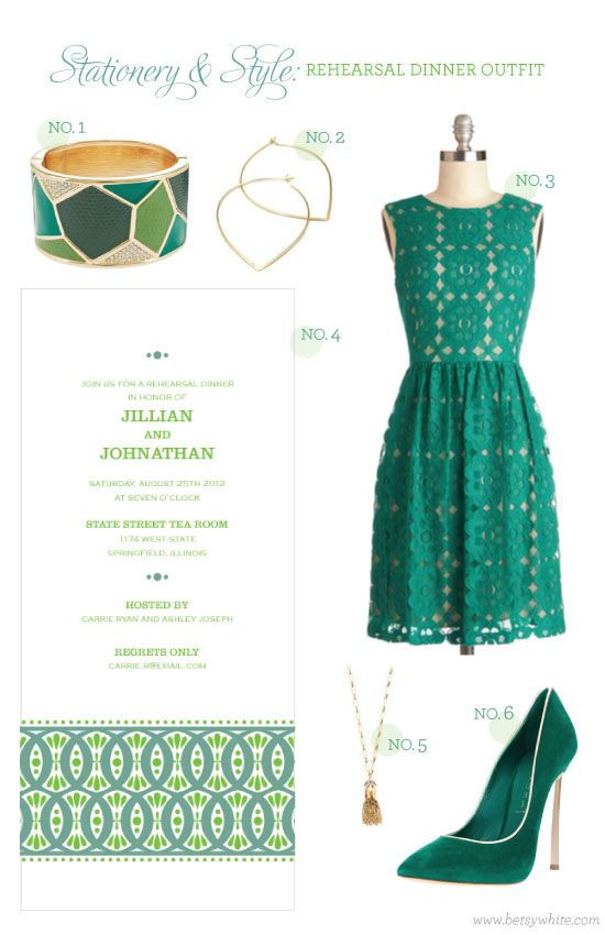 Stationery & Style: Rehearsal Dinner Outfit: Stationery Style