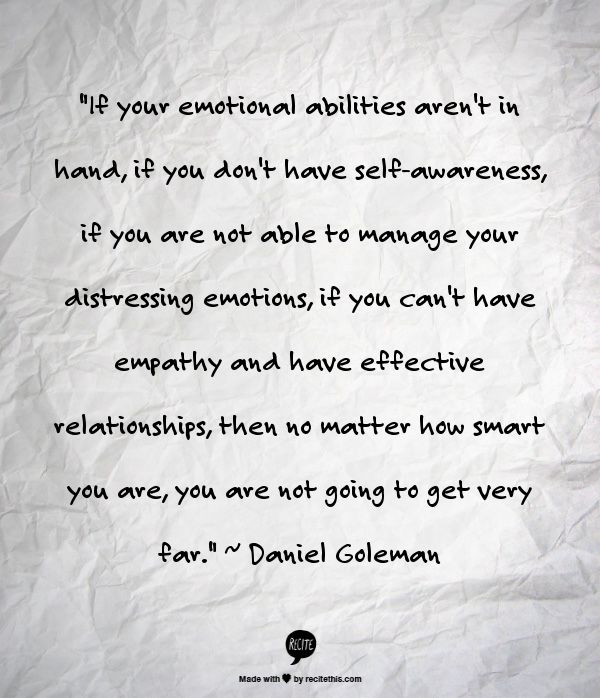 Why Emotional Intelligence Matters  http://www.thindifference.com/2014/02/22/emotional-intelligence-matters-leadership-development/