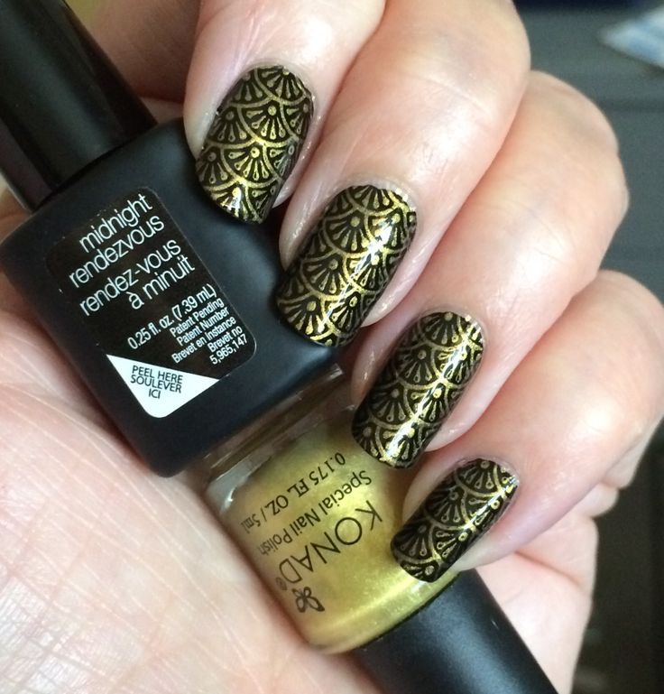 16 best my nails images on pinterest my nails nailart and manicure sensationail base stamped with konad gold using moyou sailor 05 plate prinsesfo Choice Image