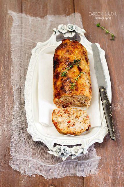 polpettone di pollo con salame piccante e provolone by il gatto goloso, via Flickr