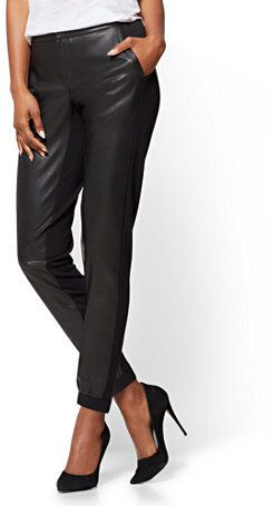 New York & Co. Faux-Leather Jogger Pant