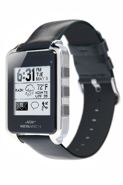 This takes me back to my childhood and how bad I wanted to be Dick Tracy.  Black Bluetooth 4.0 Development System Watch