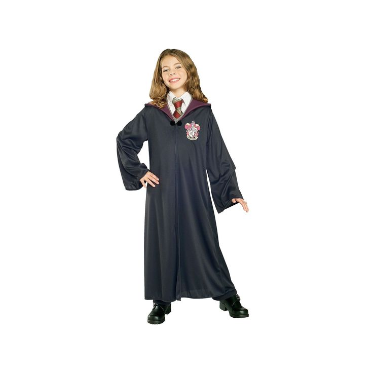 Harry Potter Gryffindor Robe - Kids, Kids Unisex, Size: Medium, Black