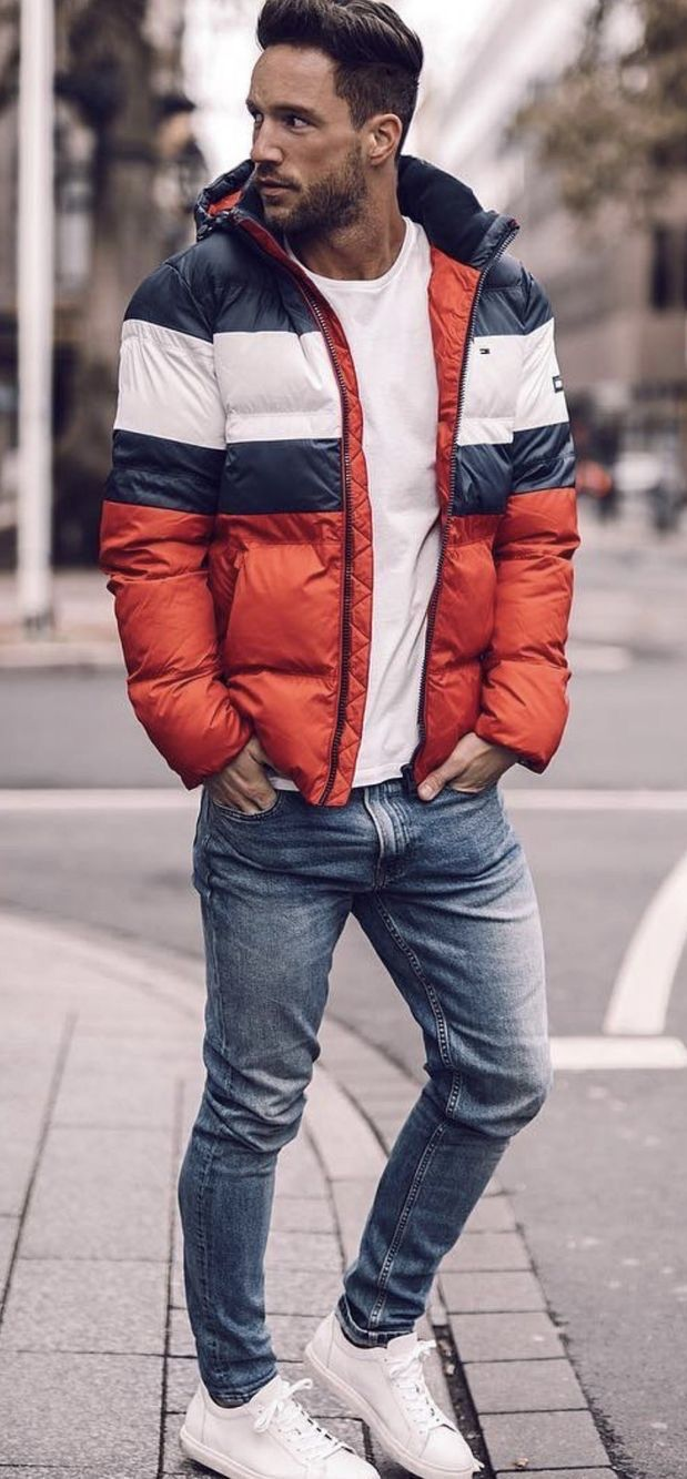 ae2975e4a magic_fox - with a red white blue puffer jacket white t-shirt light ...