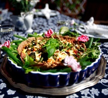Paj med små linser, fetaost & broccoli