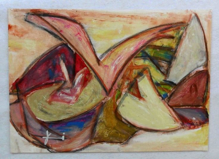 G.A.Zanussi arte contemporanea quadro 24x34 opera su cartoncino   eBay