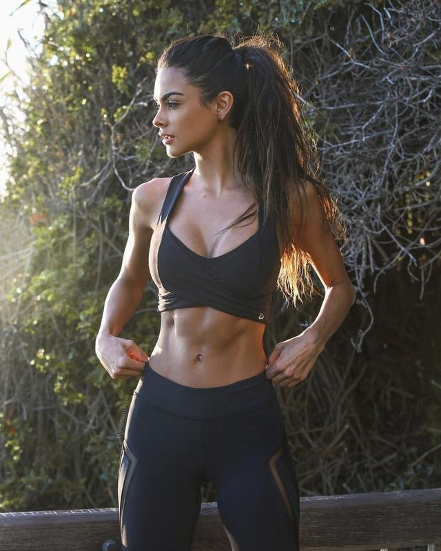 Why was this picked for me? If I had abs like that I'd have NO tits