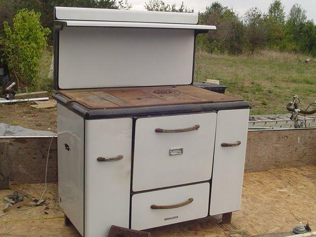*LPU* CHARTER OAK Wood Burning COOK STOVE vintage antique Cast Iron - 9 Best Old Cook Stoves Images On Pinterest
