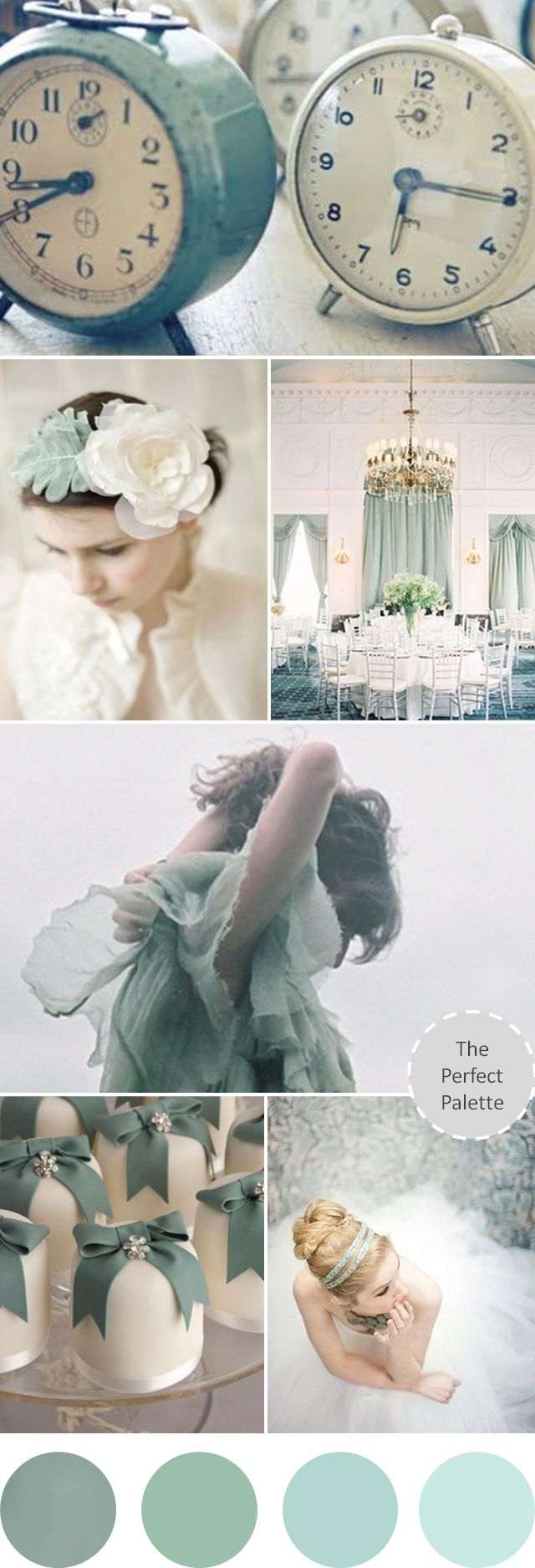 Wedding Colors | Grayed Jade http://www.theperfectpalette.com/2013/06/wedding-colors-i-love-shades-of-grayed.html
