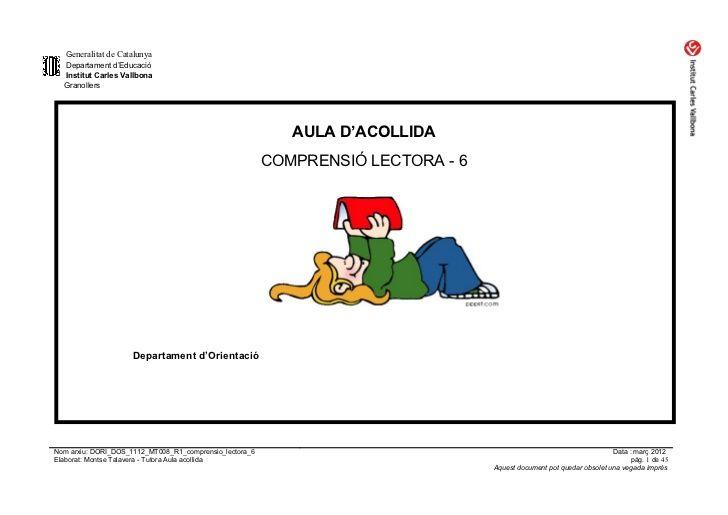 Dori dos 1112_mt008_r1_comprensio_lectora_6bis by mtalaverxtec via slideshare