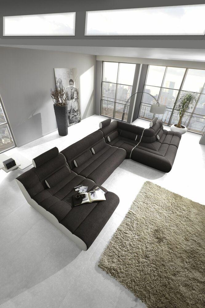 Polstersofa Wohnlandschaft Modern Elements 9 Xl Polster Modulsofa Eckcouch Sofa Ebay Couch Sofa Couch Sofa Furniture