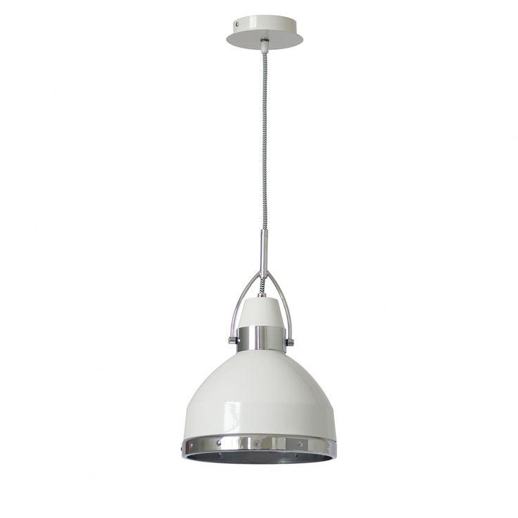 Suspension Copper - Métal - 1 ampoule - Blanc / Chrome