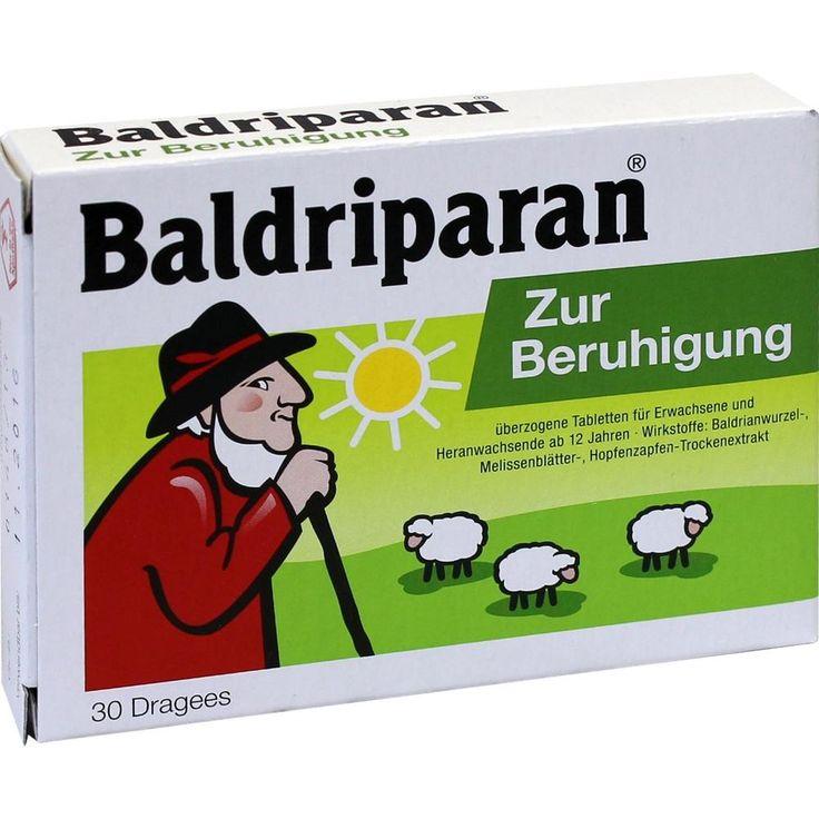 BALDRIPARAN Zur Beruhigung überzogene Tabletten:   Packungsinhalt: 30 St Überzogene Tabletten PZN: 10124789 Hersteller: Pfizer Consumer…