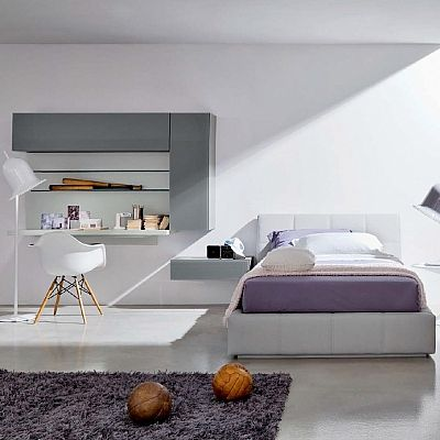 Essential, minimalist 'Elective' bed. Upholstered, contemporary and ultramodern. My Italian Living.