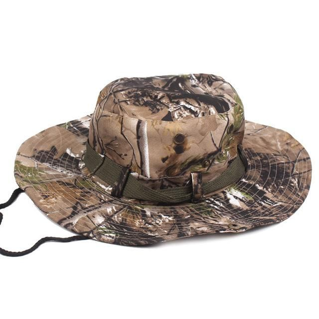 5952ba16c14 MENS CAMOUFLAGE CAMO ARMY COMBAT BUSH HAT FISHING MILITARY COTTON BOONIE CAP  HATCS0510  MilitaryHatsForWomen