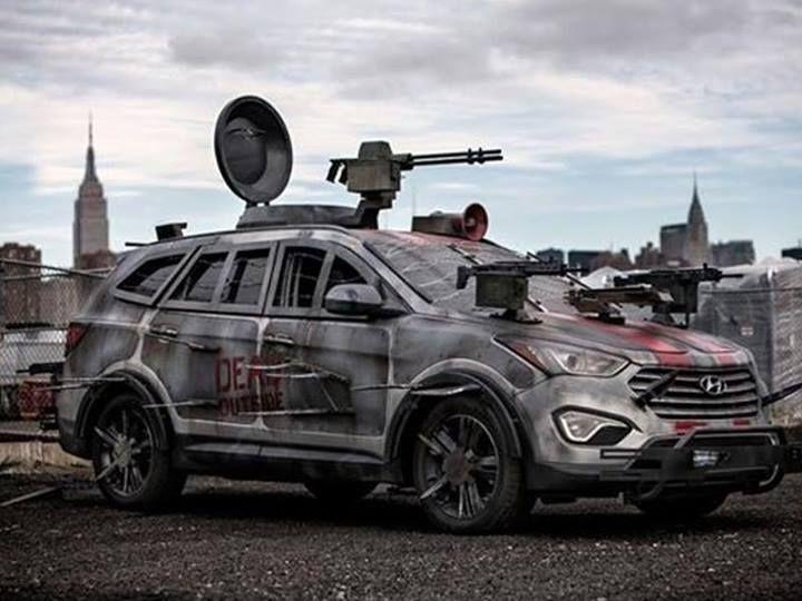 walking dead zombie car