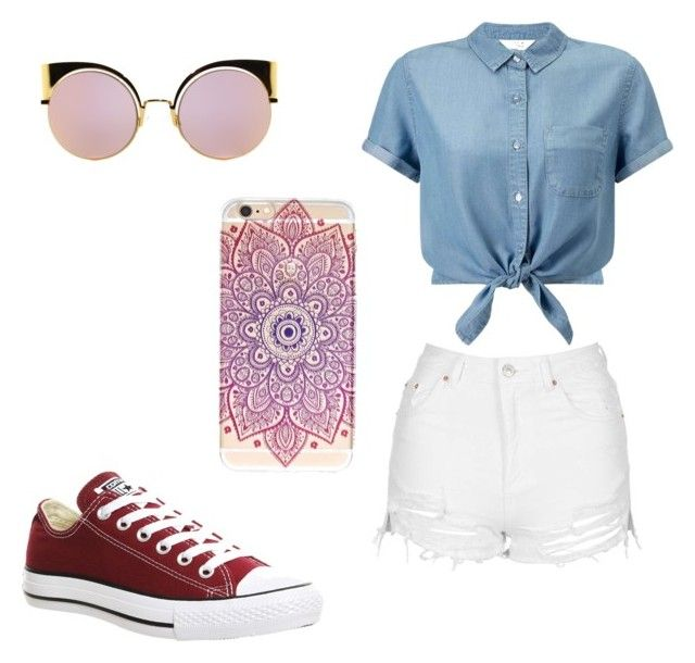 """""""Untitled #54"""" by erikaelena23 on Polyvore featuring Topshop, Miss Selfridge, Converse and Fendi"""
