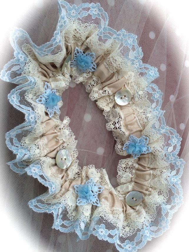 Victoriana Wedding Garter - Blue £27.50