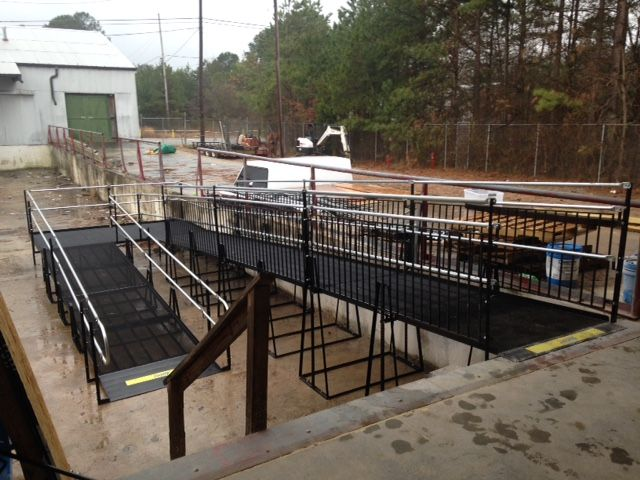 Amramp Eastern NC installed this 50 foot commercial wheelchair ramp for Raleigh, NC's newest warehouse brewery. The Black Jack Brewery will be opening soon and now is ADA compliant and fully accessible for all patrons.