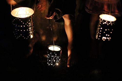 Simple Tin Can Lanterns {Craft Camp}