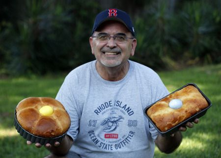 Portuguese Sweet Bread.  John Pacheco has written a cookbook of favorite family recipes, most of which are Portuguese.