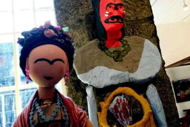 Frida en la Casa Azul.