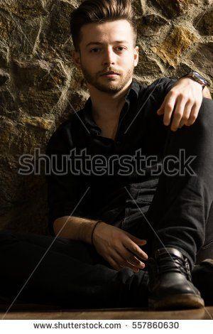 Caucasian man model. High resolution image.