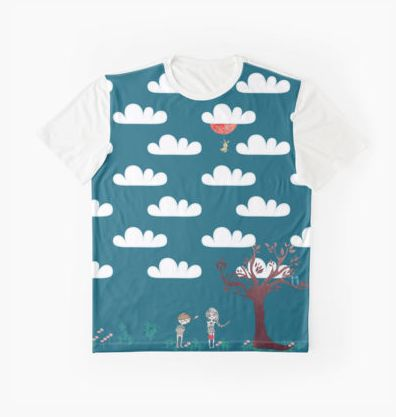 Little Fluffy Clouds . Panel T-shirt by Yannik Hay Photography