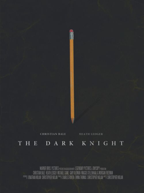 Batman, The Dark Knight minimalist movie poster