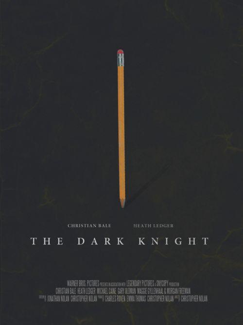 Batman, The Dark Knight minimalist movie poster